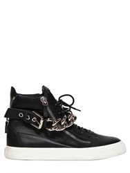 Giuseppe Zanotti Leather Metal Chain Sneakers