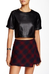 Lucyparis Faux Leather Crop Top