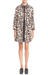 Marc By Marc Jacobs Leopard Print Cotton Coat Sandbox Multi