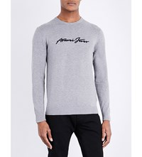 Armani Jeans Crewneck Knitted Jumper Grey
