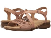 Naturalizer Juniper Ginger Snap Leather Women's Dress Sandals Pink
