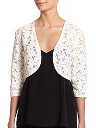 Harrison Morgan Beaded Floral Bolero Jacket Natural