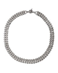Stephen Dweck Silver Engraved Chain Mail Necklace