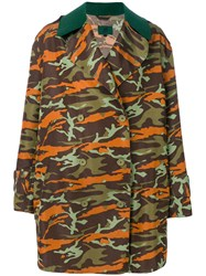 Jean Paul Gaultier Vintage Double Breasted Camouflage Coat Multicolour