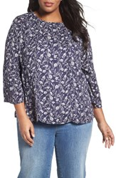 Caslonr Plus Size Women's Caslon Peasant Blouse Ivory Cloud