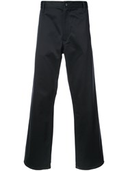 Junya Watanabe Comme Des Garcons Man Tailored Fitted Trousers Blue