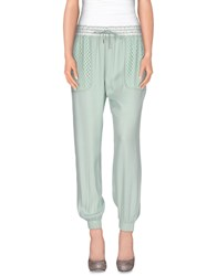 Pinko Black Trousers Casual Trousers Women Light Green