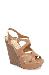Jessica Simpson Women's Brissah Wedge Buff Leather