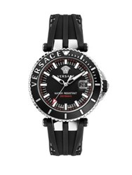Versace V Race Silicon Strap Diver Watch Black