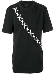 D.Gnak Lace Up Oversized T Shirt Black