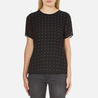Michael Michael Kors Women's Studded T Shirt Black