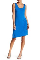 H By Bordeaux Side Ruched Tank Dress Blue