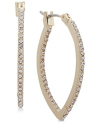 Lonna And Lilly Gold Tone Crystal Pointed Hoop Earrings