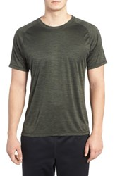 Zella Men's Triplite T Shirt Green Tactical Melange
