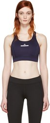 Adidas By Stella Mccartney Navy Pull On Bra