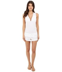 Luli Fama Cosita Buena T Back Mini Dress Cover Up White Women's Swimwear