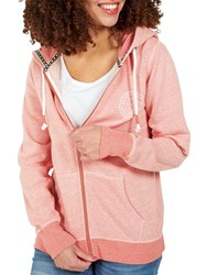 Fat Face South Coast Zip Hoodie Rosebud
