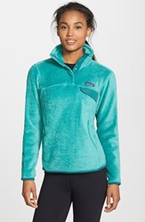 Patagonia Women's 'Re Tool' Snap Pullover Aqua Stone