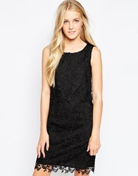 Soaked In Luxury Lace Overlay Dress Black