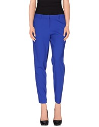 Space Style Concept Trousers Casual Trousers Women Bright Blue
