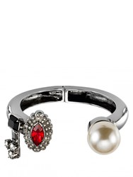 Mawi Pearl And Crystal Cuff Silver