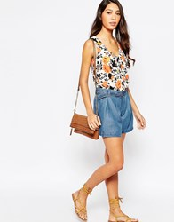 Oasis Denim D Ring Shorts Blue