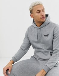 Puma Essentials Hoodie With Small Logo In Gray Gray