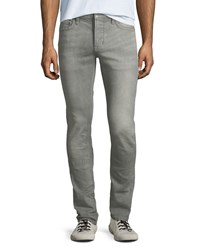 John Varvatos Wight Fit Button Fly Jeans Gray