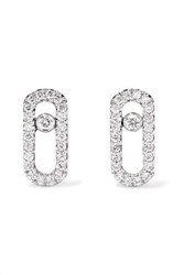 Messika Move Uno 18 Karat White Gold Diamond Earrings