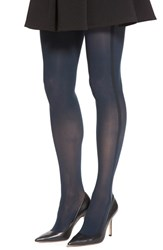 Women's Elie Tahari Triple Side Stripe Control Top Tights Midnight Black