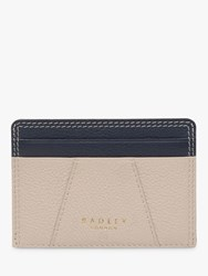 Radley Wood Street Leather Small Card Holder Dove Grey