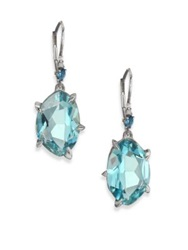 Alexis Bittar Fine Midnight Marquis Blue Topaz Purple Sapphire Grey Diamond And Sterling Silver Drop Earrings Silver Blue