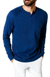 Good Man Brand Athletic Slim Fit Henley Blue
