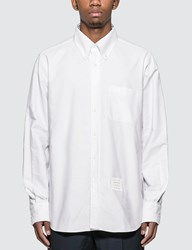 Thom Browne Lace Up Oxford Shirt White
