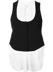 Cinq A Sept Back Bow Tank Top Black
