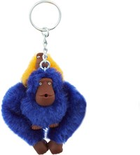 Kipling Fluffy Monkeys Keyring 7Cm Ink Sun Y