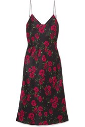 Cami Nyc The Raven Floral Print Silk Charmeuse Dress Red