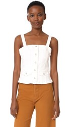 Madewell Denim Button Front Top Pure White