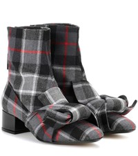 N 21 Checked Ankle Boots Grey