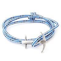 Anchor And Crew Admiral Rope And Silver Bracelet Blue Dash