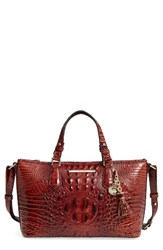 Brahmin Melbourne Mini Asher Leather Tote Brown Pecan