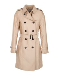 Morgan Cotton Mix Gabardine Trench Coat Beige