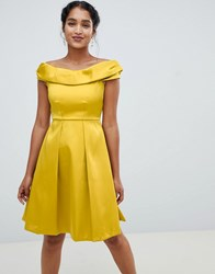 Closet London Off The Shoulder Dress Yellow