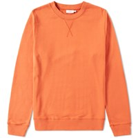 Sunspel Loopback Sweat Top Orange