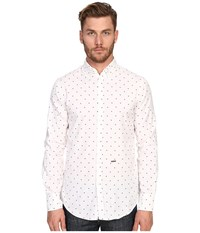Dsquared Maple Polka Dot Button Down White Red Men's Clothing