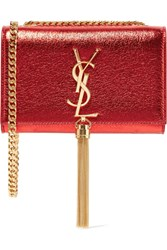 Saint Laurent Monogramme Kate Small Metallic Textured Leather Shoulder Bag