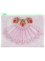 Mawi Glitter Embellished Clutch Pink And Purple