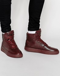 Criminal Damage Python Mid Trainers Red