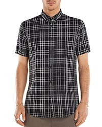 Zanerobe Plaid Regular Fit Button Down Shirt Bkwht