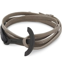 Miansai Leather Anchor Bracelet Stone